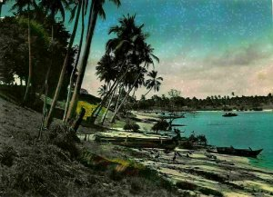 Tanzania Dar es Salaam Palmtrees Facing Harbour Entrance Postcard