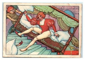 Hans Sleeps in Haunted Ghost Castle, Echte Wagner German Trade Card *VT31A