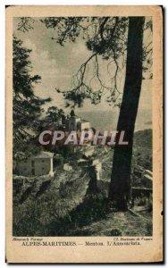 Old Postcard Menton Alpes Maritimes L & # 39Annonciata