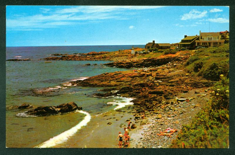 OGUNQUIT MAINE Seashore MARGINAL WAY Coast Scene Water View Postcard
