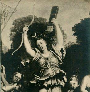 Vtg Postcard RPP Domenico Zampieri Archery Contest of Diana and Her Nymphs UNP