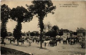 CPA ABBEVILLE - Le Marché aux chevaux (515573)