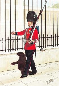 Military Art Postcard The Welsh Guards, Guardsman, London 1933 #31-2