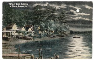 Auburn, Me, View At Lake Auburn By Night