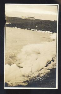 RPPC SOAP LAKE WASHINGTON 1914 SUDS RL YOUNG VINTAGE REAL PHOTO POSTCARD