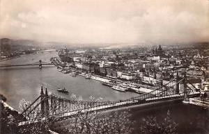 Budapest Republic of Hungary View on Danube with Elisabeth Bridge Budapest Vi...
