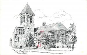 Malden Massachusetts~The First Baptist Church 1986