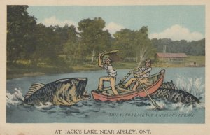 APSLEY , Ontario , Canada , 1930s ; Fishing Exaggeration #3