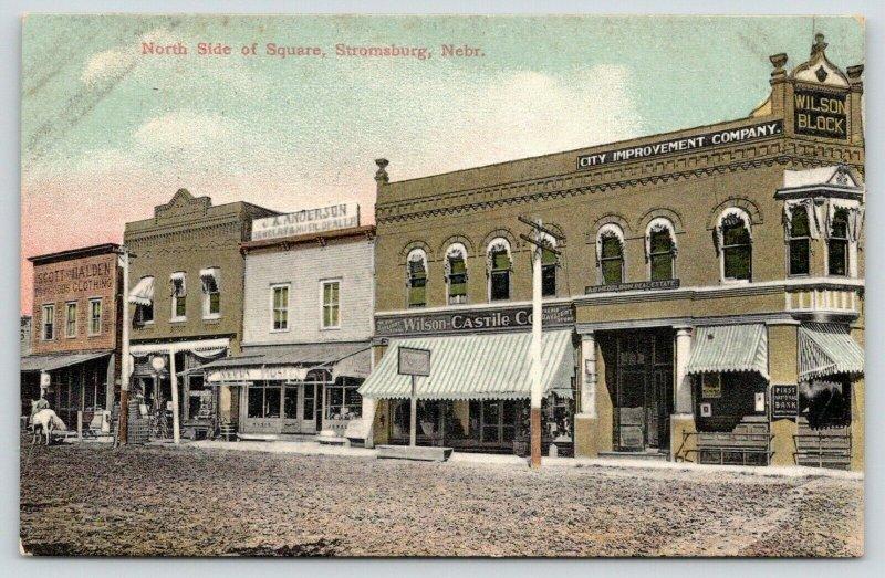 Stromsburg Nebraska~North Side of Square~Wilson Daylight Store~Hardware~c1910