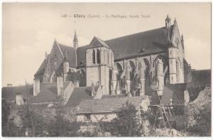 France, Clery, La Basilique, facade Nord, unused Postcard CPA