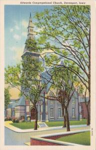 Iowa Davenport Edwards Congregational Church Curteich