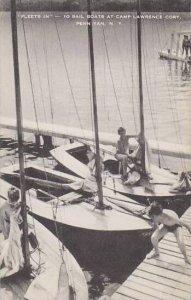 New York Penn Yan 10 Sail Boats At Camp Lawrence Cory Artvue