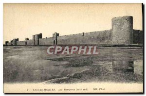 Postcard Old Aigues Mortes Ramparts south coast