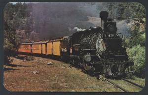 Rio Grande 476 Narrow Gauge Silverton Colorado Engine Railroad Train Postcard