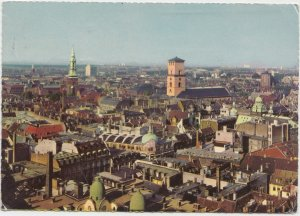 KOBENHAVN, COPENHAGEN, Aerial view, 1964 used Postcard