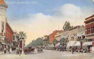 Main Street Riverside California 1924 postcard
