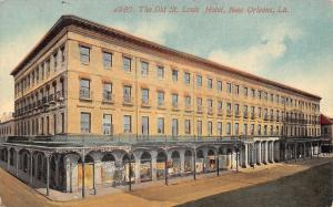 New Orleans Louisiana~Old St Louis Hotel~Exterior~Posters Line Ground Floor~1908