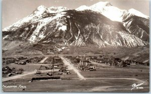 Silverton, Colorado RPPC Postcard Bird's-Eye Panorama Town View SANBORN Photo