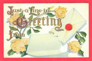 GREETING POSTCARD EMBOSSED. 1910  3.5 X 5.5 SEE SCAN