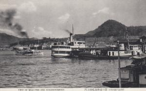 Steamshio at Moji pier , Japan, 1920-40s
