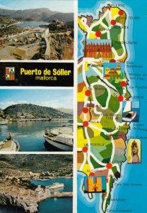 Puerto de Soller , Mallorca, Spain , 1950-70s ; Map