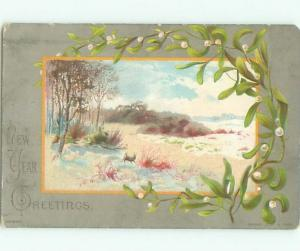 Divided-Back CHRISTMAS SCENE Great Postcard W9408