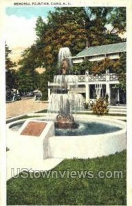 Memorial Fountain in Cairo, New York