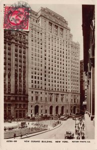 New Cunard Building, New York, N.Y., Early Real Photo Postcard, Used  in 1922