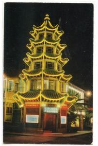 Golden Pagoda Chinese Restaurant Chinatown Los Angeles California postcard