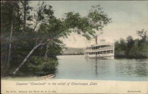 Chautauqua Lake NY Steamer Ship Cleveland c1905 UDB Postcard