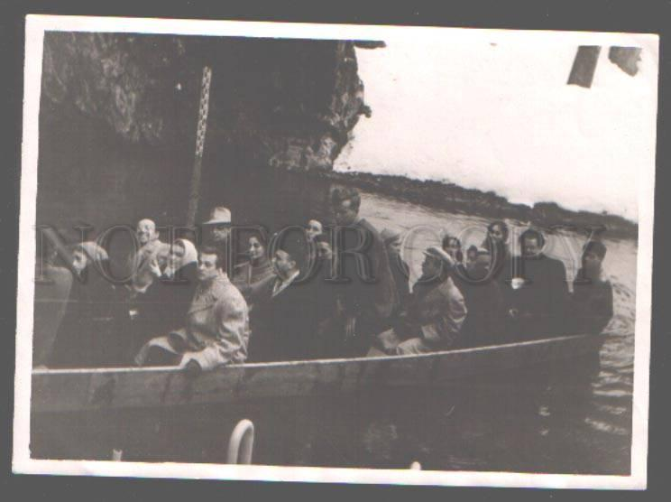 098715 BALLET & OPERA Dancers in Boat Old Rare REAL PHOTO