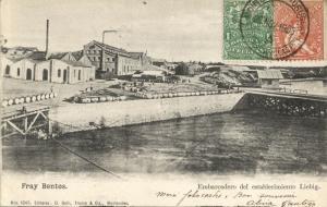 uruguay, FRAY BENTOS, Embarcadero del Establecimiento Liebig (1905) Postcard