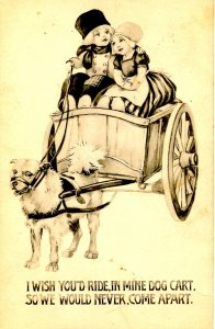 Dutch Children in Dog Cart