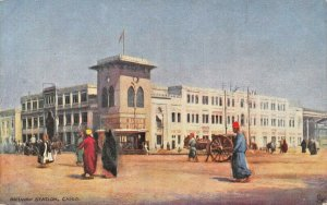 CAIRO EGYPT~RAILWAY STATION~TUCK PICTURESQUE EGYPT POSTCARD