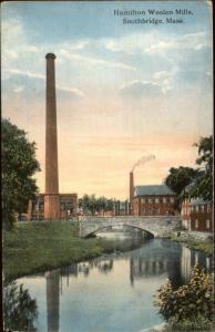 Southbridge MA Hamilton Woolen Mills c1910 Postcard
