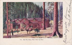Colorado Half Way House Pike's Peak Cog Road 1908