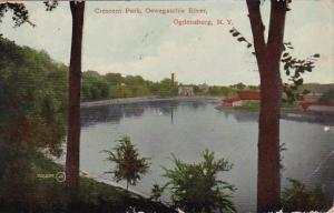 New York Ogdensburg Crescent Park Oswegatchie River 1912