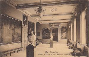 Belgium Brussells Interieur de l'Hotel de Ville Palier du ler etage