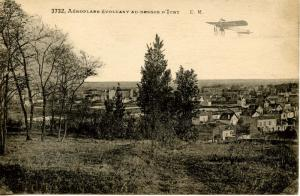 France - Normandy. Aeroplane Evoluant au-Dessus D'Ivry (Pre-1920 Aviation)