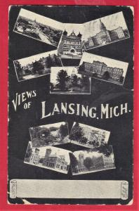 VIEW OF LANSING, MICH. 1906 UNDIVIDED BACK 1906 3.5 X 5.5 SEE SCAN   PC8