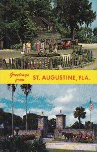 Florida Saint Augustine Greetings From Saint Augustine Oldest Wooden School H...