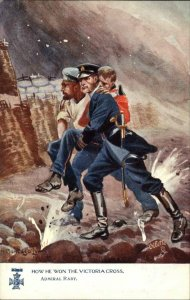 TUCK How We Won Victoria Cross Commander Raby Battle Scene Postcard