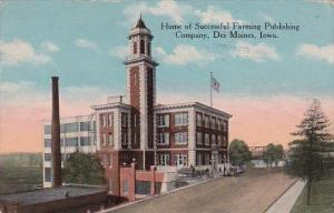 Iowa Des Moines Home Of Successful Farming Publishing Company 1914