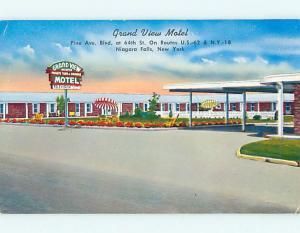 1950's GRAND VIEW MOTEL Niagara Falls New York NY s7663