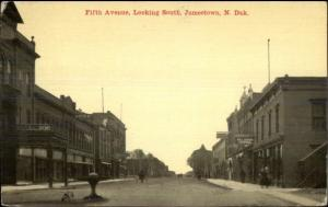 Jamestown ND Fifth Ave c1910 Postcard