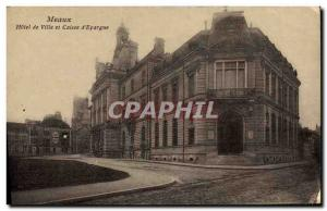 Postcard Old Bank Hotel Meaux City and Caisse d & # 39Epargne