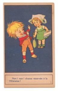 French Victorian Trade Card Children La Milanaise Shampoo Cures Lice Dandruff