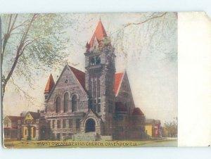 Divided-back CHURCH SCENE Davenport Iowa IA AD2025