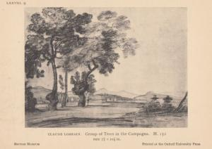 Claude Lorrain Group Of Tree Trees Tops In The Campagna Painting Postcard