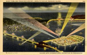 CA - San Francisco, 1939-40. Golden Gate International Exposition. Aerial Vie...